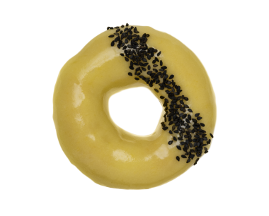 Mango and Black Sesame cake 2