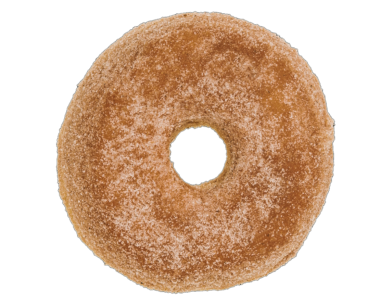 Pumpkin Spice Sugar RAISED Donut Doughnut
